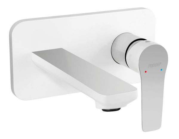 Снимка на ADORE BDR3PA С-л за умивалник стенен, за вграждане, бяло и хром