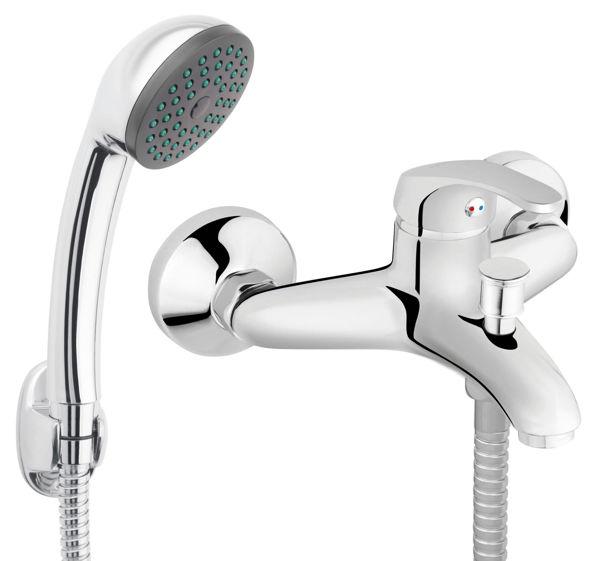 Снимка на BASIC BBC11 Смесител стенен за вана/душ с аксесоари