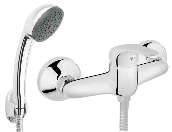Снимка на BASIC BBC77 Смесител стенен за душ с аксесоари