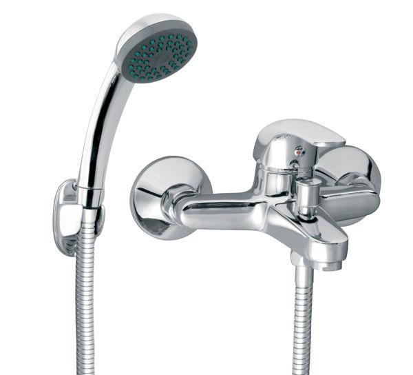Снимка на VASTO BVA11 Смесител стенeн за вана/душ с аксесоари