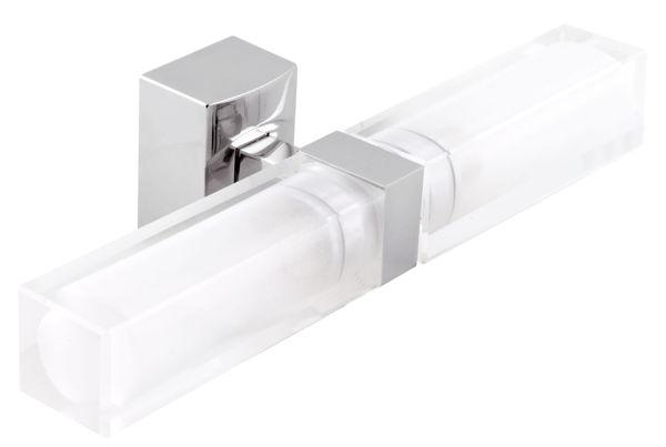 Снимка на Двойно осветление за баня квадратно хром 0205.0