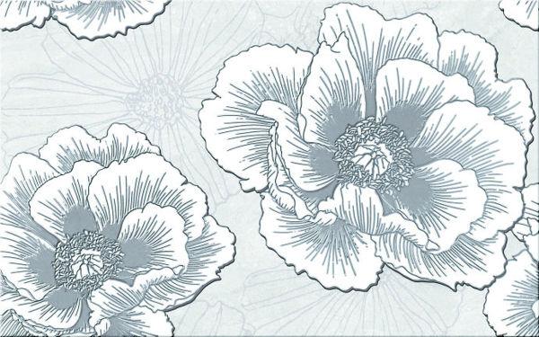 Снимка на Декор 25/40  Ferrata Grey Inserto Flower