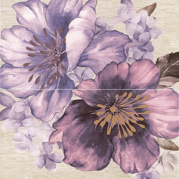 Снимка на Декор 50/50 MOTIVE Falanta violet к-кт 2 плочки 2651-0064