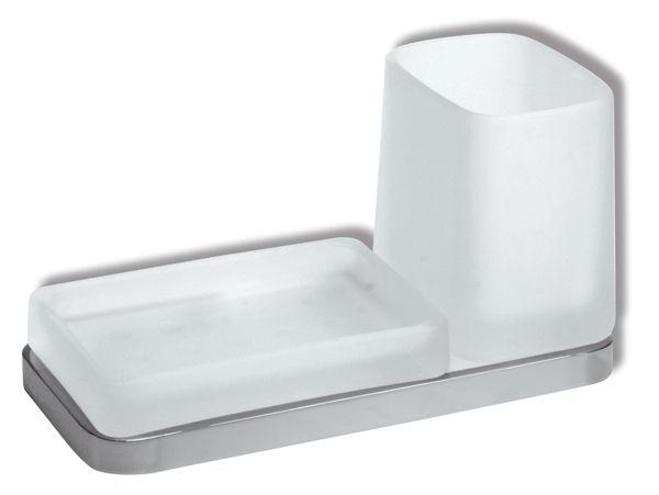 Снимка на Държач за чаша и сапуниера METALIA 4 хром, 6472.0