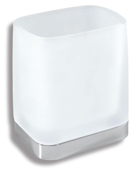 Снимка на Държач за четки и паста за зъби стъклo METALIA 4 хром 6406.0