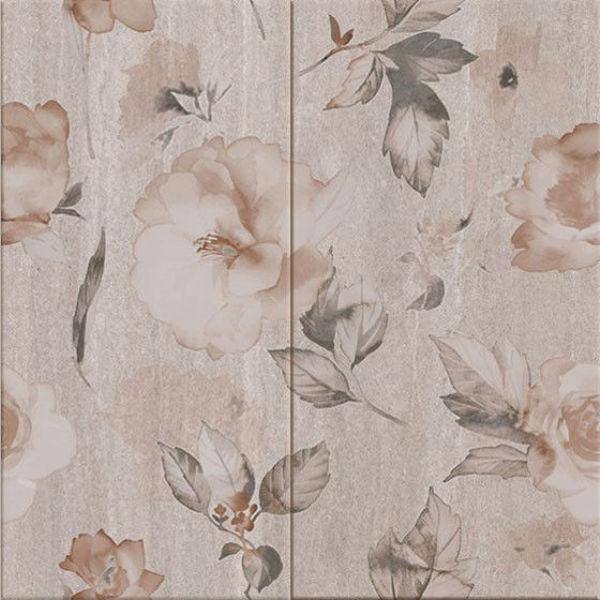 Снимка на Декор 50/50 Калисто сиви цветя 5909 комплект