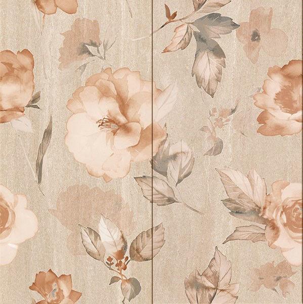 Снимка на Декор 50/50Калисто цветя бежов 5908(2части)