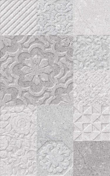 Снимка на Стенна декорация 25/40 Греко светло сива релеф 5986