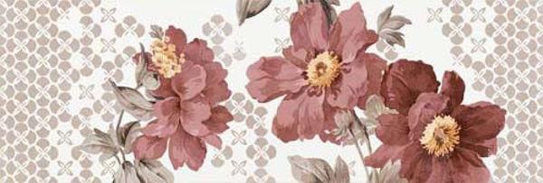 Снимка на Декор 25.5/75.5 ФАЕНЦА цветя червени 4780
