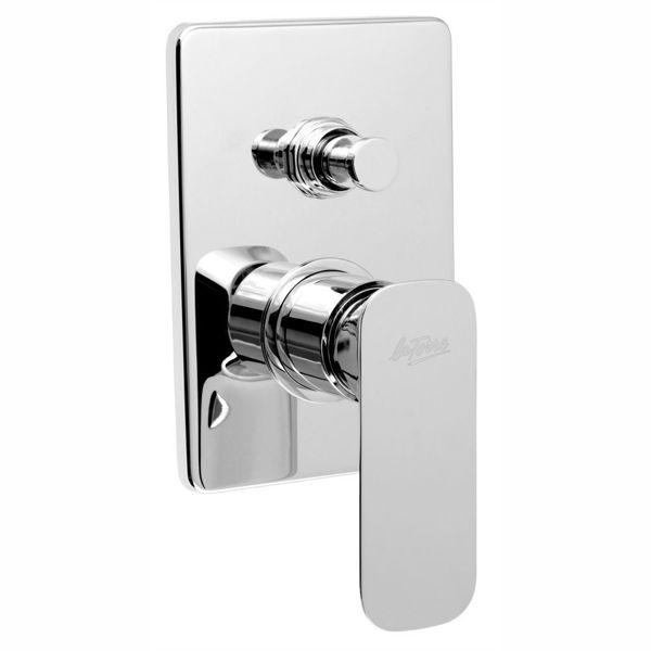 Снимка на Смесител вграден за вана/душ с превключвател, хром 44050R.0