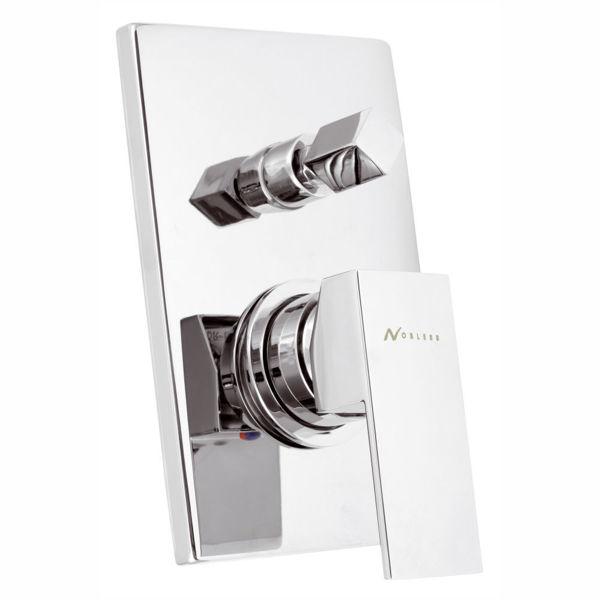 Снимка на Смесител за вана/душ вграден EDGE хром 36050R.0