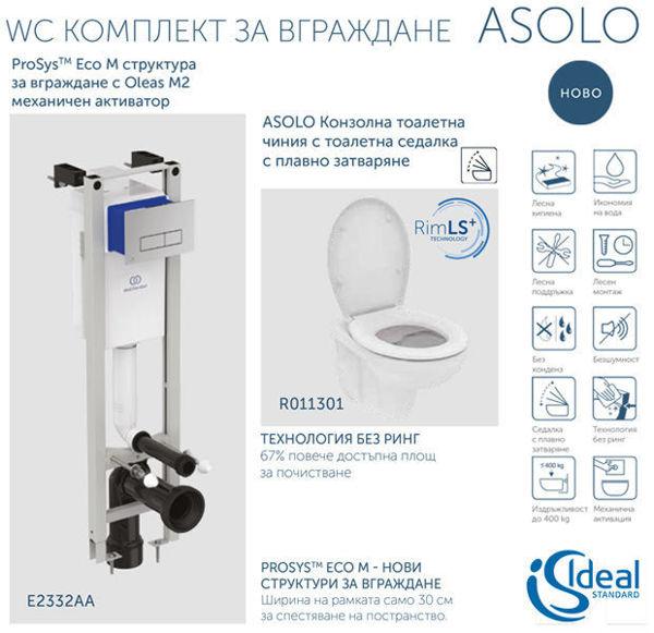 Снимка на ASOLO WC комплект за вграждане (E2332AA + R011301)
