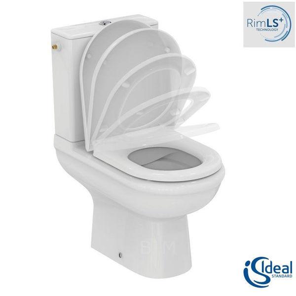 Снимка на R006901  EXACTO WC комплект ХО,Rimless с плавно затваряне