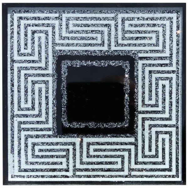 Снимка на 10/10 Стъклен фриз 0120 LAVIRINT SILVER BLACK