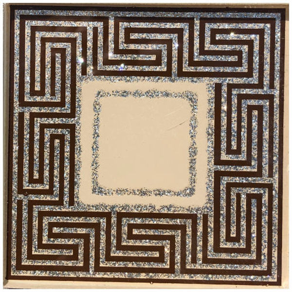 Снимка на 10/10 Стъклен фриз 0120 LAVIRINT SILVER BROWN