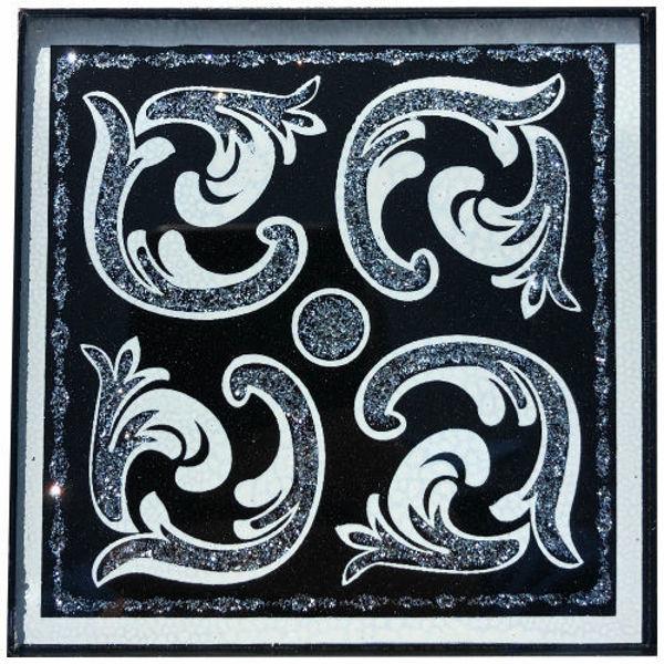 Снимка на 10/10 Стъклен фриз VENECIJA BLACK SILVER