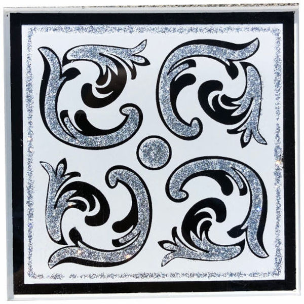 Снимка на 10/10 Стъклен фриз VENECIJA WHITE SILVER