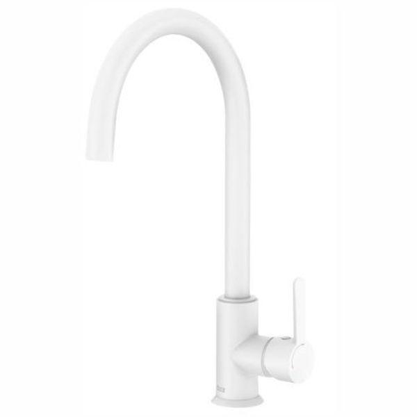 Снимка на A5A7409B00 Mencia Смесител за кухненска мивка, Cold Start, бял мат