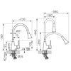 Снимка на Смесител за кухня ZUMBA BZA42B с  гъвкав PVC черен  чучур накрайник душ