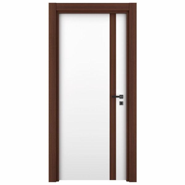 Снимка на Врата Variodor Red walnut VDA-40 обикновена брава бяла