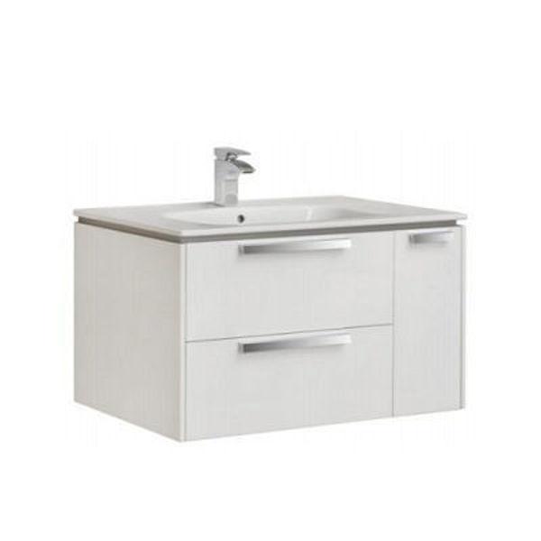 Снимка на LAGO Шкаф за баня 80см бял A851612806 с мивка
