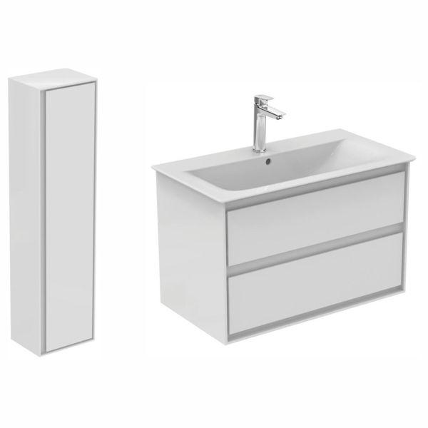 Снимка на Комплект Connect air шкаф 80см с мивка+колона (E0832B2+E0819B2+E027901)